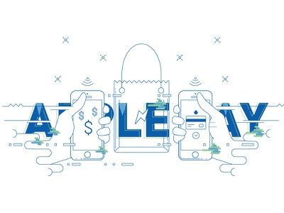 Apple Pay Illustration design apple pay illustration