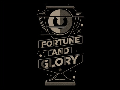 Fortune and Glory illustration graphic design teeshirt design