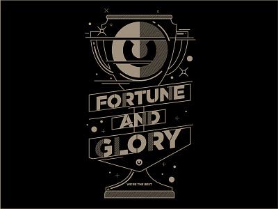 Fortune and Glory illustration graphic design teeshirt design
