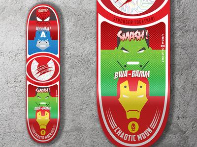 Superhero Skateboard Deck