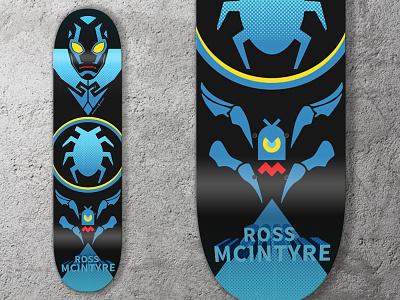 Blue Beetle Skate Deck blue beetle skatedeck