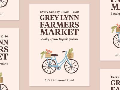 Weekly Warm-Up: Grey Lynn Farmers Market branding graphic design