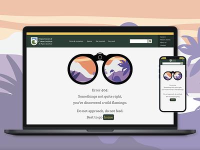 Department of Conservation (DOC) 404 Error page app ui design explore conservation
