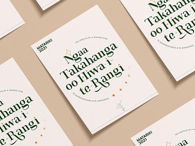 Matariki 2021 - Māori New Year graphic design design branding nz matariki
