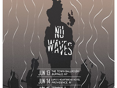 NU Waves Tour Posters