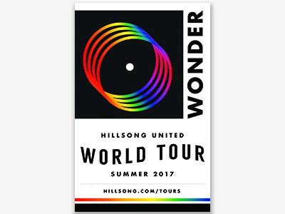 Wonder Tour Poster poster illustration typography music