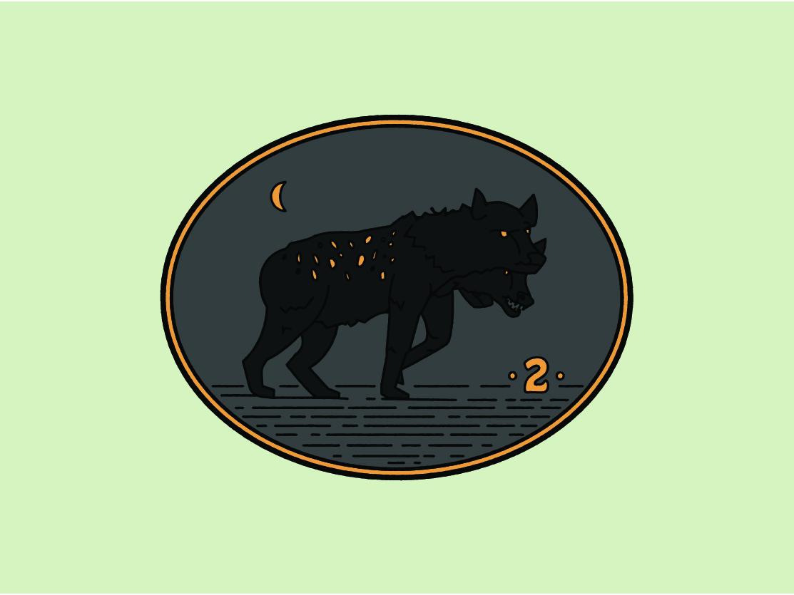 Day 2  - Hyena hyena animals 30creatures challenge daily design logo branding illustration