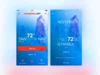Anadolujet Flight App Main / Promotion Screen