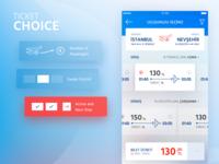 Anadolujet Flight App / Ticket Choice