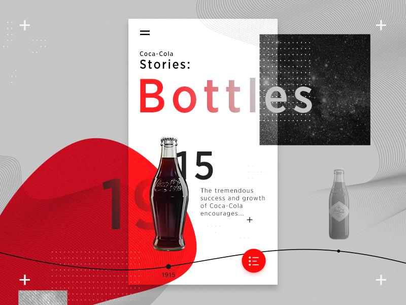 Coke Timeline App by Özkan Şengil on Dribbble
