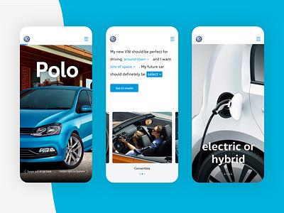 Volkswagen Next Generation Concept blue flat minimal iphone x fullscreen conversational car volkswagen app automotive