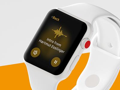 STOWA Apple Watch App blurred modern volume player recording app flat minimal audio blur watch stowa apple watch