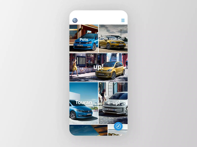Volkswagen Story Concept animated prototype story snapchat automotive feature product engine volkswagen car animation video mobile web