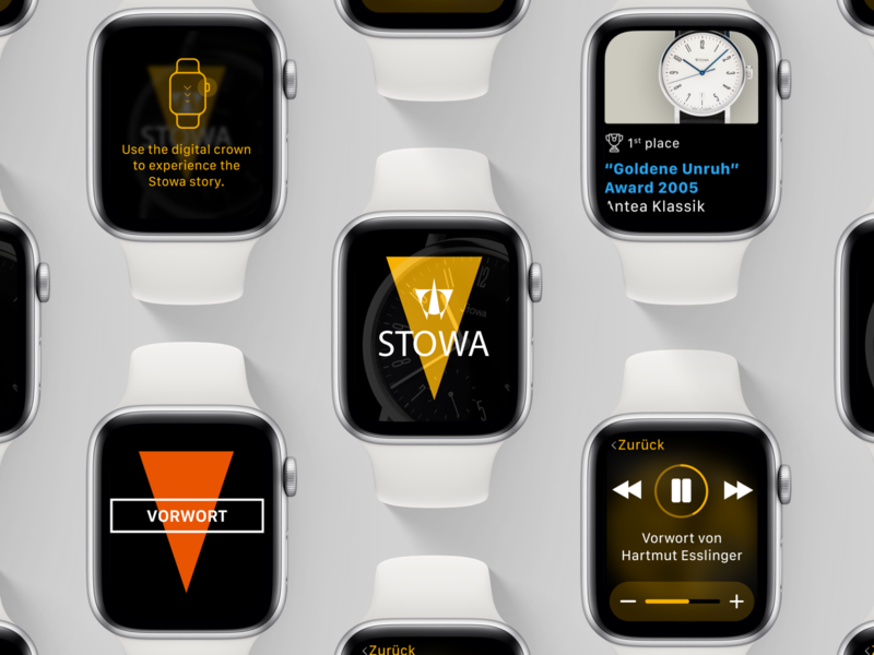 STOWA Apple Watch App geometric vibrant colorful recording audio watch face minimal flat app stowa apple watch
