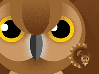 G is for Great Horned Owl