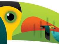 T is for Keel-Billed Toucan