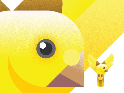 Y is for Yellow Canary drop cap drop-cap letter birds bird alphabet