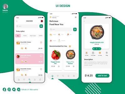 FOOD APP graphic design ui