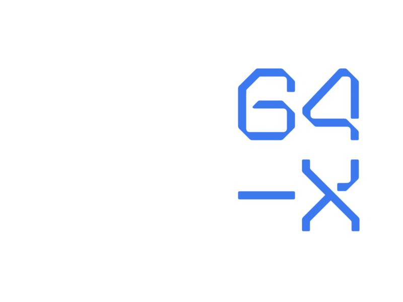 64-X type typeface font design font type design typography branding logo identity