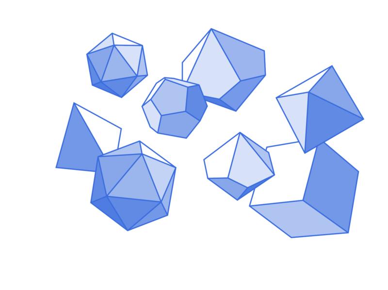dice polygon vector illustration