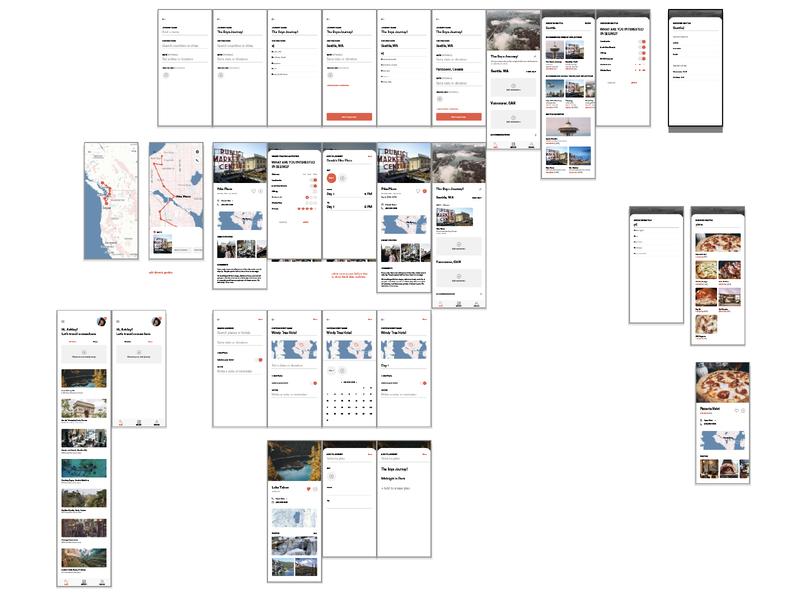 journey wip applicaiton app data interface ux ui
