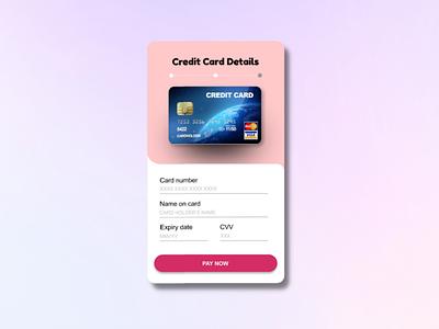 Credit card details page: UI design logo ui typography illustration icon design branding app