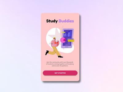 Landing page: UI design ui vector logo typography illustration icon design branding app