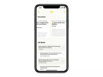Email App Interaction protopie5.0 application mobile app design app typography protopie animation ux ui interaction design sketch prototype