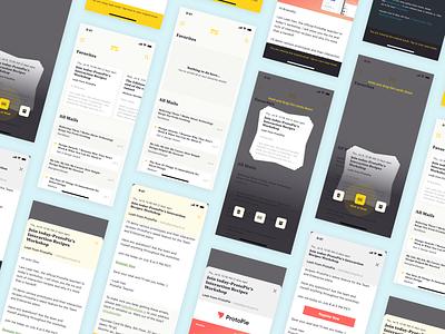 Mail App Concept protopie prototype app branding logo design ux interaction ui sketch