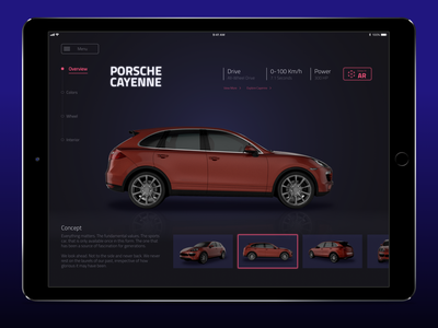 Interactive Automotive Catalog sketch automotive mockup ui