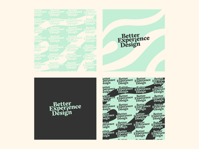 Better Experience Design logo exploration logotypes typography logo
