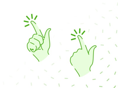 Hands Pointing hands vector design ui sketch illustration