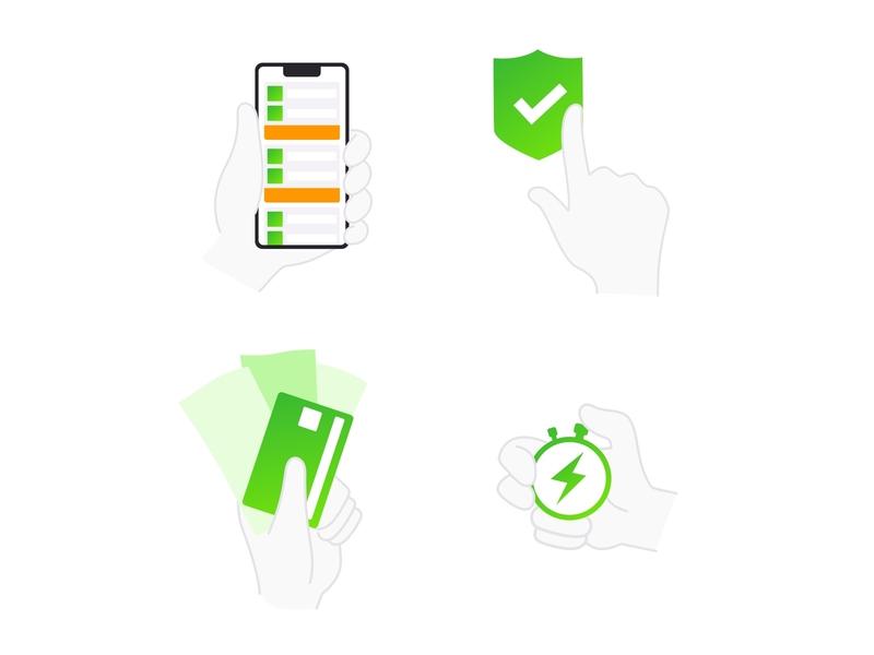 I love hands ui icon branding vector design sketch illustration illustrator hands hand