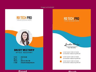 ID card Design Front & Back branding design graphic design illustration
