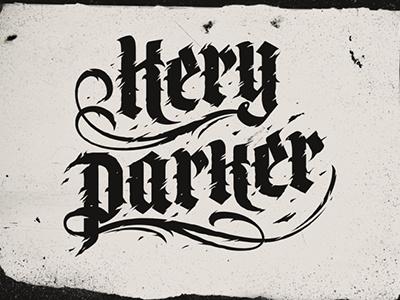 Kery Parker calligraphy lettering sergeybah bah keryparker drammer