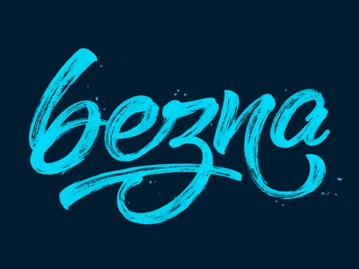 bezna        lettering calligraphy sergeybah bah