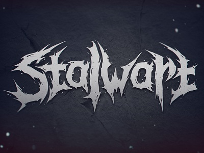 Stalwart lettering logo stalwart deathmetal bah sergeybah