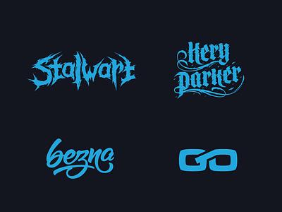 Logoset logoset logo lettering stalwart keryparker bezna goldoil bah sergeybah