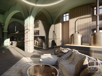 3d Industrial Loft Design sketchup 3d model illustration design render interior design interior architecture design architecture 3d render 3d