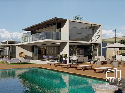 3d Luxury Beach Villa 3d modelling illustration design architecture design architecture 3d render 3d model 3d