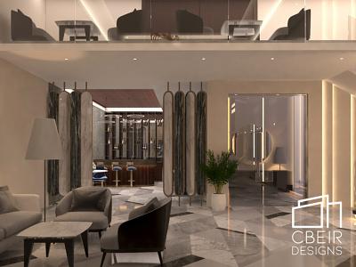 Boutique Hotel Lobby 3d Interior render luxury interior design interior design architecture design architecture 3d render 3d model 3d