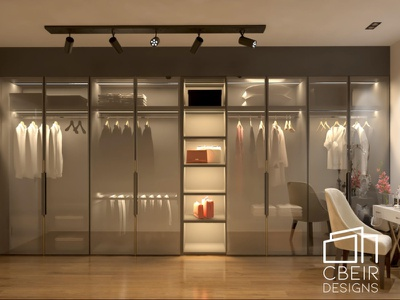 3D render of a Walk-In Closet design render interior design interior 3d render architecture design architecture 3d