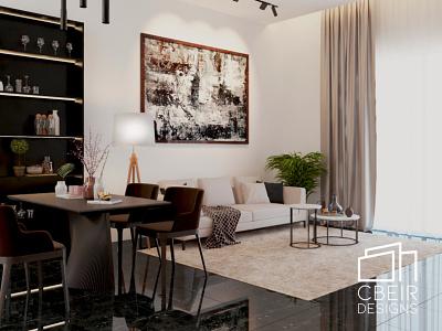 3D render of a modern living room render 3d model design illustration architecture design architecture 3d render 3d
