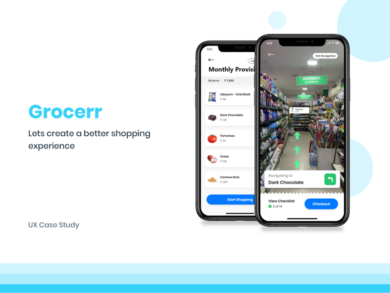 Hypermarket - UX Case study (Augmented Reality) ux case study retail store user interface user experience concept design casestudy smart shopping self checkout shopping cart shopping app supermarket hypermarket augmented reality