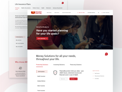 Insurance Company Website -  Redesign (Concept)