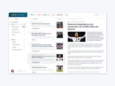 Document document news list search select design product ui ux