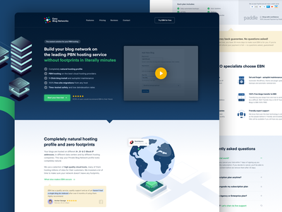 Landing page design for SaaS hosting company 3d testimonial call to action converting landing page sales page app social proof company hosting web design ui clean sales design conversion landing saas