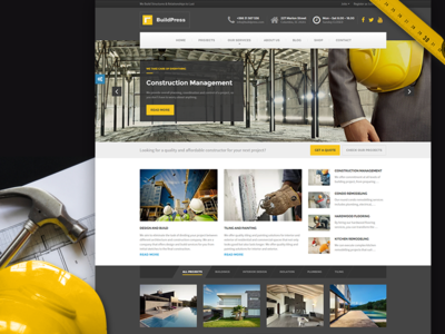 BuildPress - WordPress Theme For Construction Businesses wordpress theme construcion business corporate engineer contractor constructor painter plumber remodeling renovation