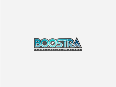 Boostra - Trading cards and collectables vector wordmark collectables colle branding logo graphic design