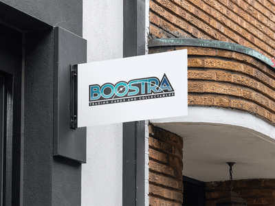 Boostra - Trading cards and collectables vector wordmark logo graphic design collectables branding